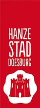 Logo der Stadt Doesburg auf der Oranier-Fahrradroute von Lingen über Apeldoorn nach Moers
