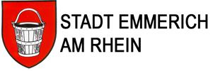 Logo der Stadt Emmerich auf der Oranier-Fahrradroute von Lingen über Apeldoorn nach Moers
