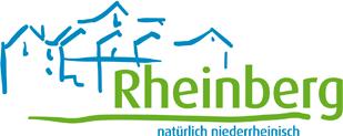 Logo derStadt Rheinberg auf der Oranier-Fahrradroute von Lingen über Apeldoorn nach Moers